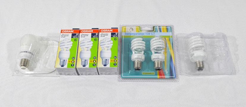 7 Kompaktleuchtstofflampen E27