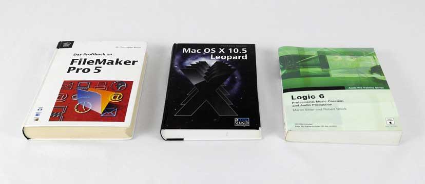 Drei veraltete Computerbücher