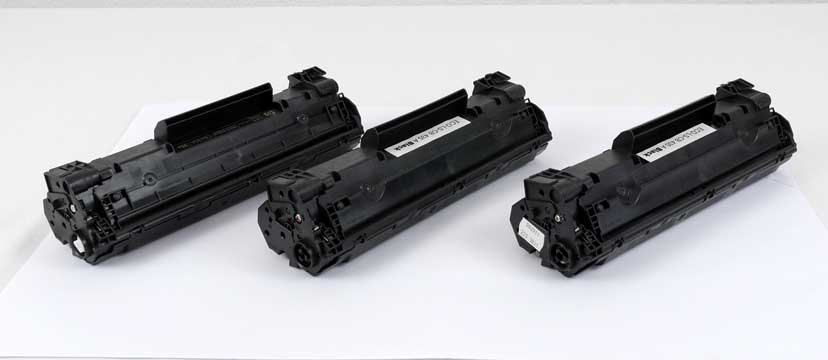 3 leere Tonerkartuschen für HP LaserJet P1006
