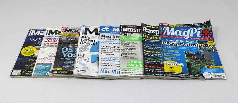 Acht Computerzeitschriften